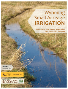 Cover of the small acreage irrigation bulletin
