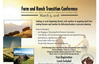 Poster announcing the farm and ranch transition conference.