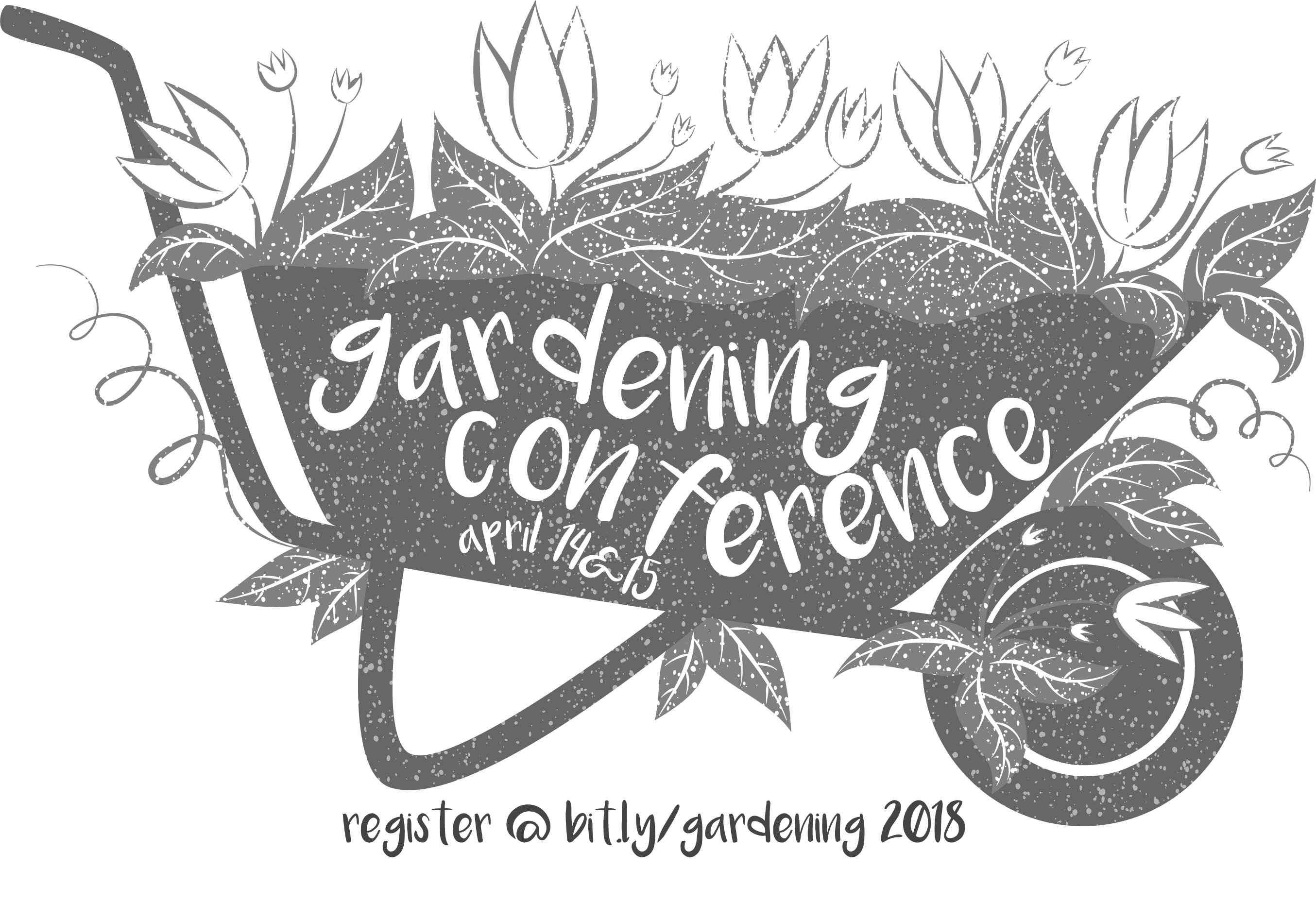 Watering can as the garden conference logo.